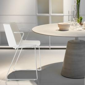 MDF Italia AÏKU chair with armrests and runners