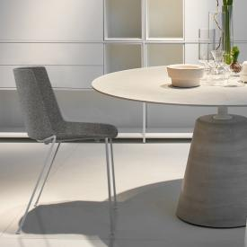 MDF Italia AÏKU SOFT chair with round legs