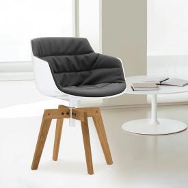 MDF Italia FLOW SLIM swivel armchair with legs
