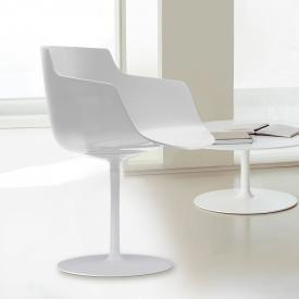 MDF Italia FLOW SLIM armchair with single leg