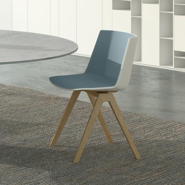 MDF Italia AÏKU chair, solid wood