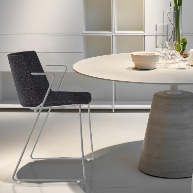 MDF Italia AÏKU  Soft chair with armrests and runners