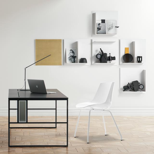 MDF Italia FLOW chair with steel legs