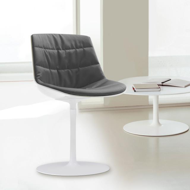 MDF Italia FLOW swivel chair with single leg
