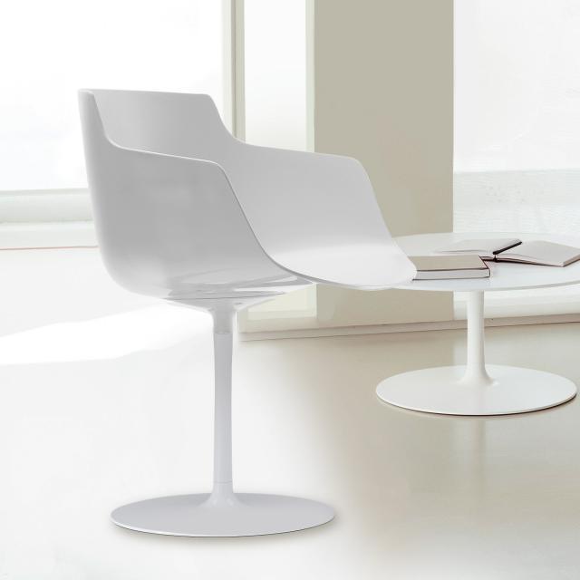 MDF Italia FLOW SLIM swivel armchair with single leg