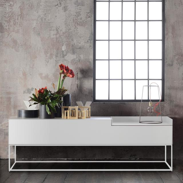 MDF Italia INMOTION sideboard with cable hole, open compartment right