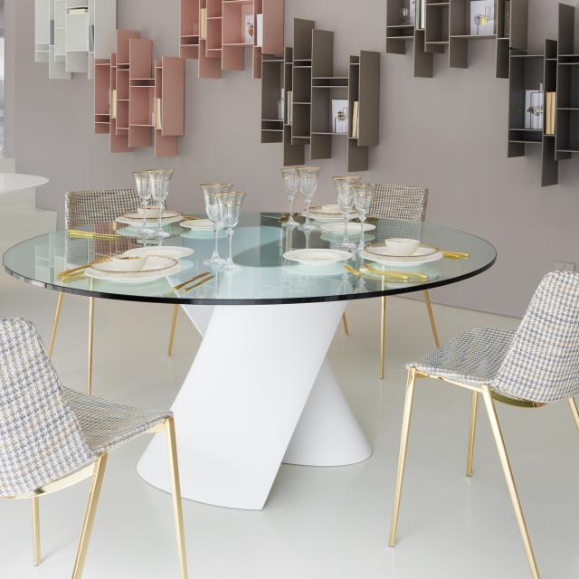 MDF Italia S TABLE table with glass top