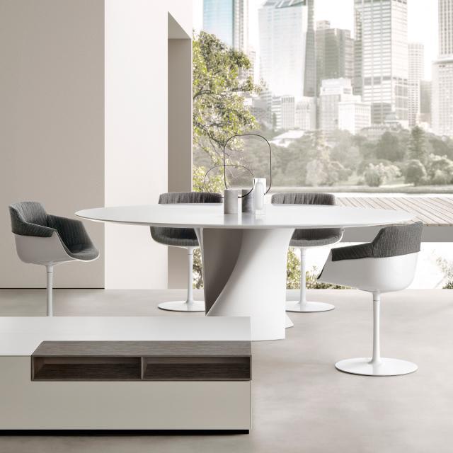 MDF Italia S TABLE table, oval