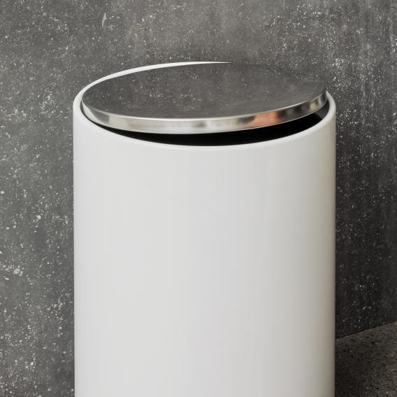 Menu pedal bin white gloss, 7 litres