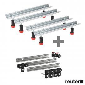 2x MEPA bath legsType WA with ADS for acrylic baths incl. set of 3 MEPA support rails