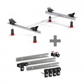 MEPA bath legs Type WSuni incl. MEPA set of 3 support rails