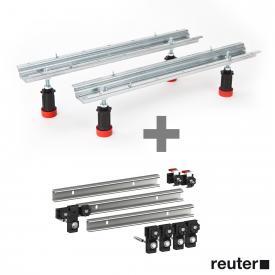 MEPA bath legsType WA with ADS for acrylic baths incl. set of MEPA 3 support rails