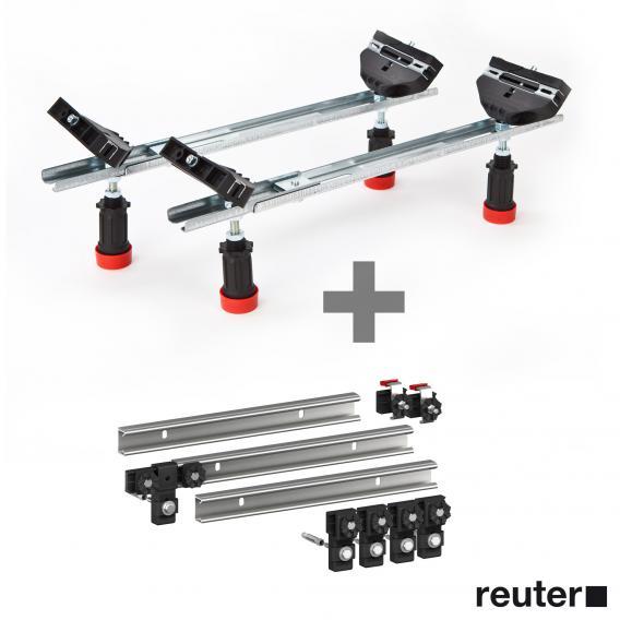 MEPA WSgrip bath legs for Kaldewei steel baths incl. MEPA set of 3 support rails