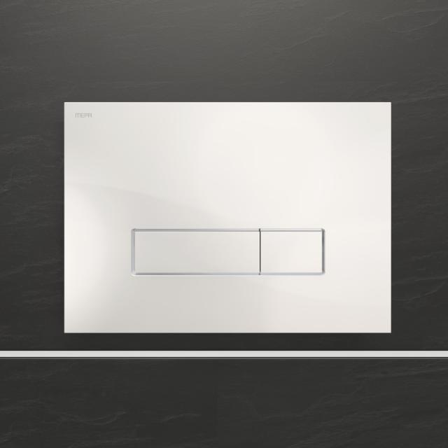 MEPA Orbit flush plate with design surface, dual flush mechanism white