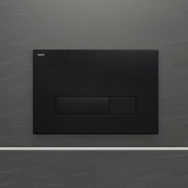 MEPA Orbit flush plate, with dual flush technology matt black