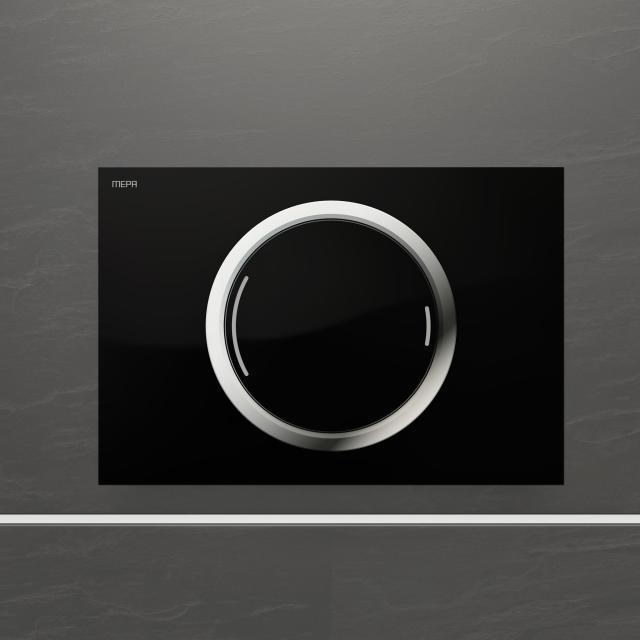 MEPA Zero flush plate, semi-recessed, with dual flush mechanism black