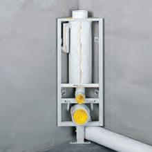 Missel MSR-M 6 litres flush pipe H: 96 cm, for wall-mounted toilet, with central foot for mounting on screed or finished floor, vertical adjustment up to 70 mm