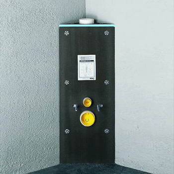 Missel MFT-S tiling panel for compact toilet cistern and compact elements for corner installation