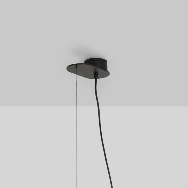 Milan 1 head canopy for Half pendant light