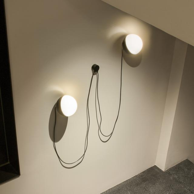 Milan 2 heads wall bracket with neodymium magnet for Half 16 P. table lamp