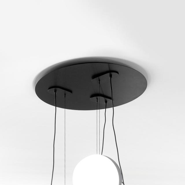 Milan 3 heads canopy for Half pendant light