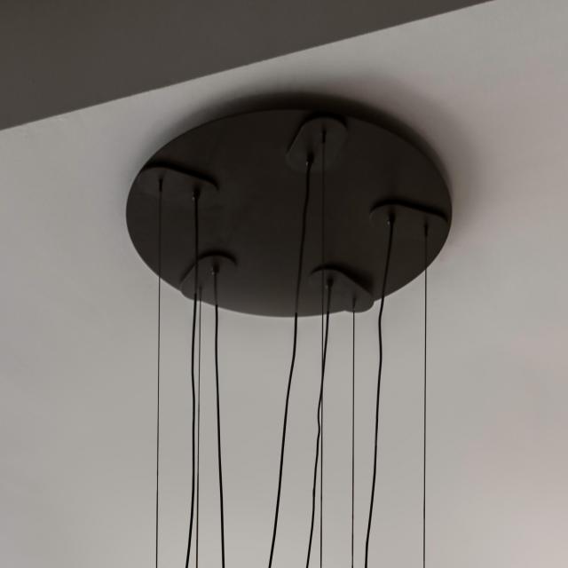 Milan 5 heads canopy for Half pendant light