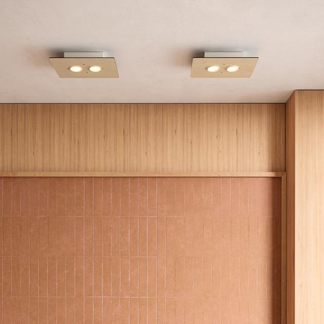 Milan Equal ceiling light, rectangular