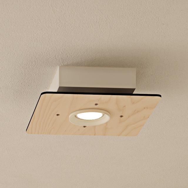 Milan Equal ceiling light, square