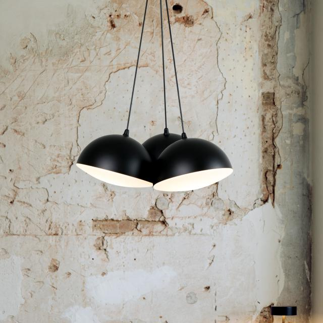 Milan Nod pendant light, 3 heads