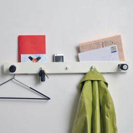 MOX TWIN wall-mounted coat rack with shelf