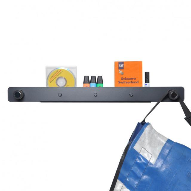 MOX TWIN wall-mounted coat rack with shelf