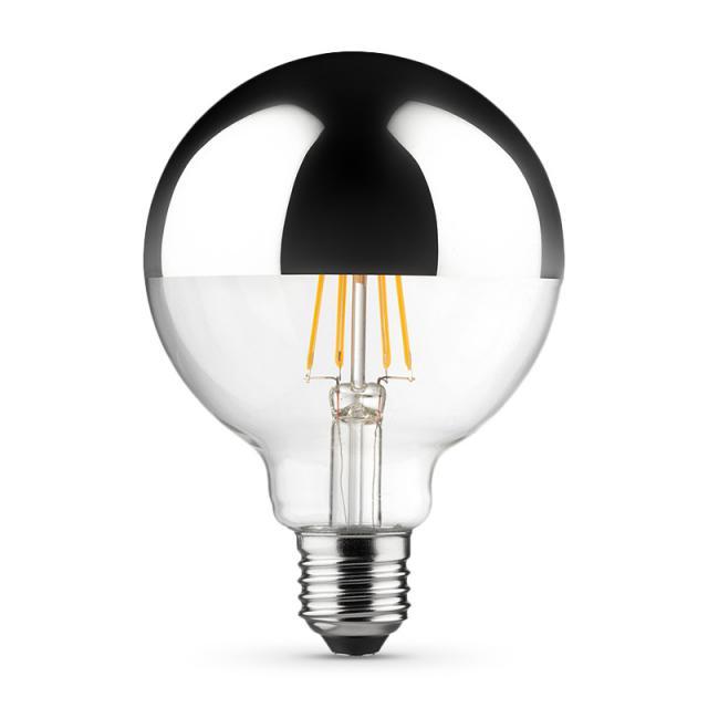 MÜLLER-LICHT LED Filament Globe half mirror lamp E27