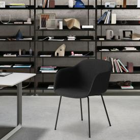 Muuto Fiber padded chair with armrests