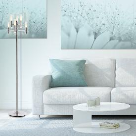 Näve Candle LED floor lamp with dimmer, 6 headed