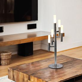 Näve Candle LED table lamp with dimmer, 5 headed
