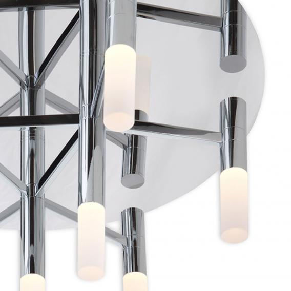 Näve Candle LED ceiling light, 9 headed