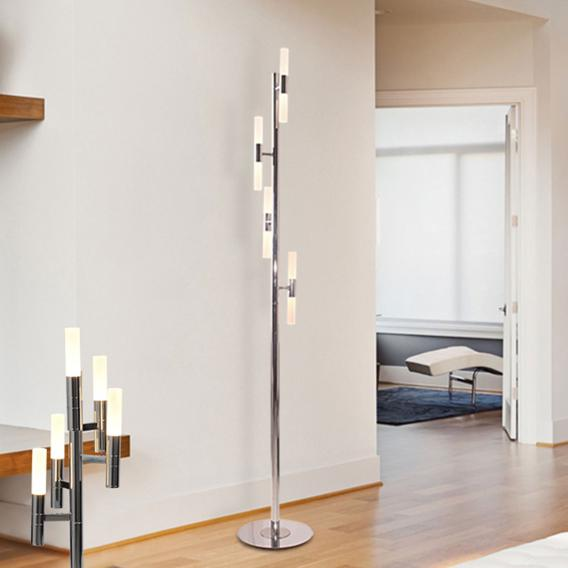 Näve Candle LED floor lamp with dimmer, 8 headed