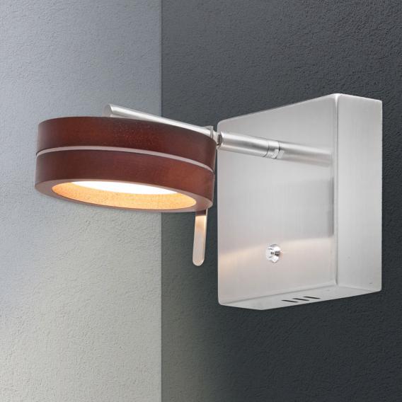 Näve Wood Satin LED wall light