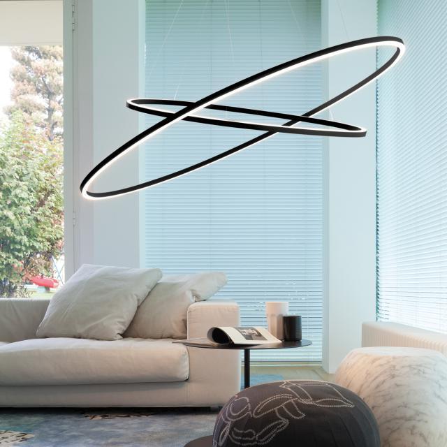NEMO ELLISSE DOUBLE LED uplight/downlight pendant light