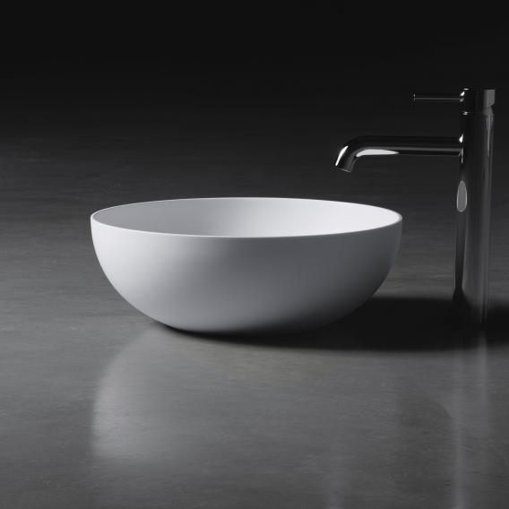 neoro n50 countertop washbasin Ø 40 H: 14 cm, with easy-care surface
