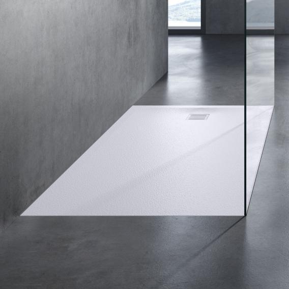 neoro n50 square/rectangular shower tray textured white, with anti-slip surface