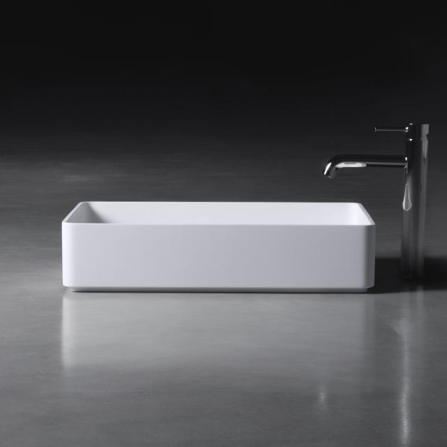 neoro n50 countertop washbasin W: 58 H: 13 D: 37 cm, with easy-care surface