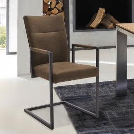 Niehoff 3071 cantilever chair with armrests, genuine leather