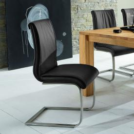 Niehoff 6651 cantilever chair, real leather
