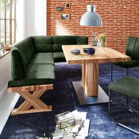 Niehoff ALEXA corner bench, long leg left, real leather