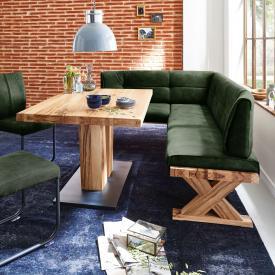 Niehoff ALEXA corner bench, long leg right, real leather