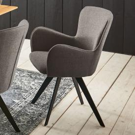 Niehoff AVALON chair with armrests and swivelling base