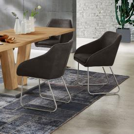 Niehoff COMFORTA chair with armrests and runners, rotatable