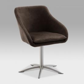 Niehoff COMFORTA chair with armrests and swivelling star base