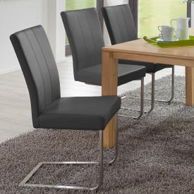 Niehoff LEONARDO cantilever chair, flat steel frame